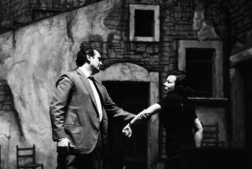 Franco Corelli con Giulietta Simionato in Cavalleria rusticana – Scala, 7 dicembre 1963 (Archivio Teatro alla Scala)